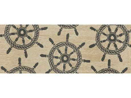 Trans Ocean Rugs Frontporch 2'3'' x 6' Rectangular Black Runner Rug