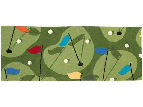 Trans Ocean Rugs Frontporch 2'3'' x 6' Rectangular Green Runner Rug