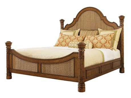 Tommy Bahama Island Estate Round Hill King Panel Bed