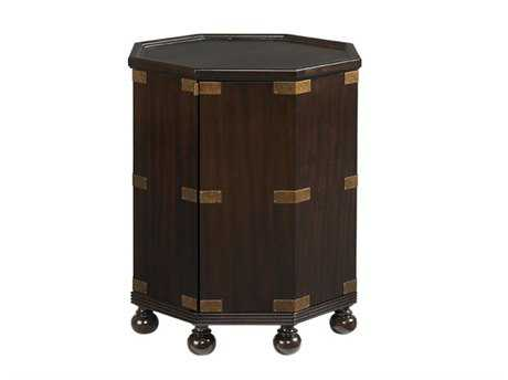 Tommy Bahama Royal Kahala 22.5 Octagonal Pacific Campaign Accent Table