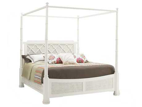 Tommy Bahama Ivory Key Southampton California King Poster Bed