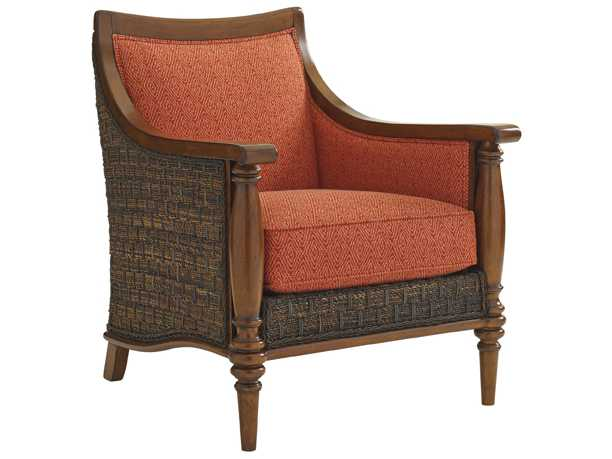 Tommy Bahama Bali Hai Agave Tight Back Wicker Chair To169511