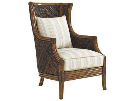 Tommy Bahama Bali Hai Rum Beach Loose Back Rattan Chair