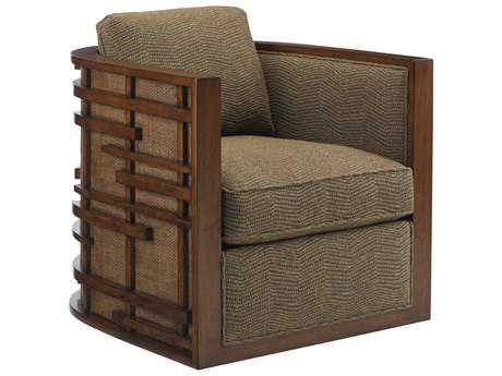Tommy Bahama Island Fusion Loose Back Semerang Masami Swivel Arm Chair