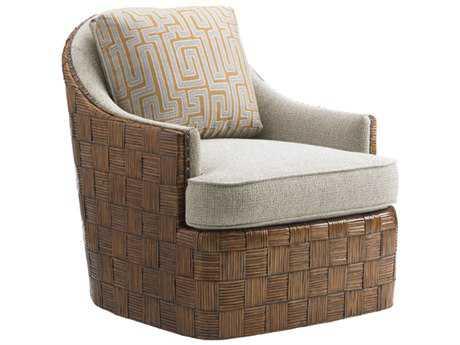 Tommy Bahama Island Fusion Loose Back Nagano Masami Swivel Arm Chair