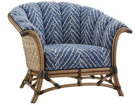 Tommy Bahama Twin Palms Pelican Channel Key Back Rattan Chair