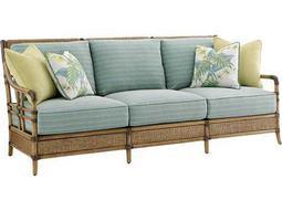 Tommy Bahama Twin Palms Seagate Loose Back Rattan Sofa