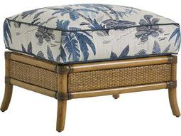 Tommy Bahama Twin Palms Seagate Semi-Attached Top Rattan Ottoman