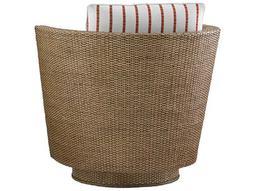 Tommy Bahama Twin Palms Tarpon Cay Loose Back Rattan Swivel Chair