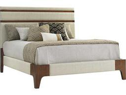 Tommy Bahama Island Fusion Mandarin Upholstered California King Sebana Panel Bed