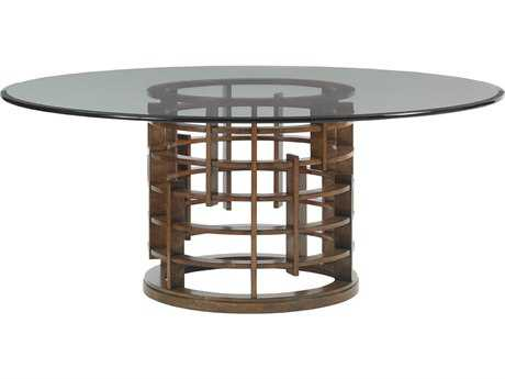 Tommy Bahama Island Fusion 60'' Round Meridien Sebana Glass Top Dining Table