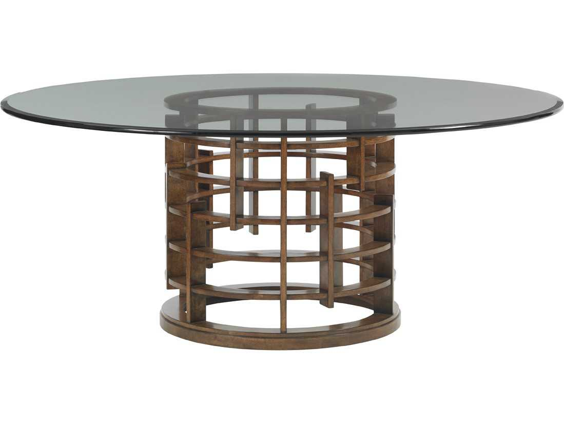 Tommy Bahama Island Fusion 60 39 39 Round Meridien Sebana Glass Top Dining Table To556875g