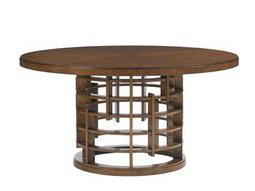 Tommy Bahama Island Fusion 60'' Round Meridien Sebana Wood Top Dining Table