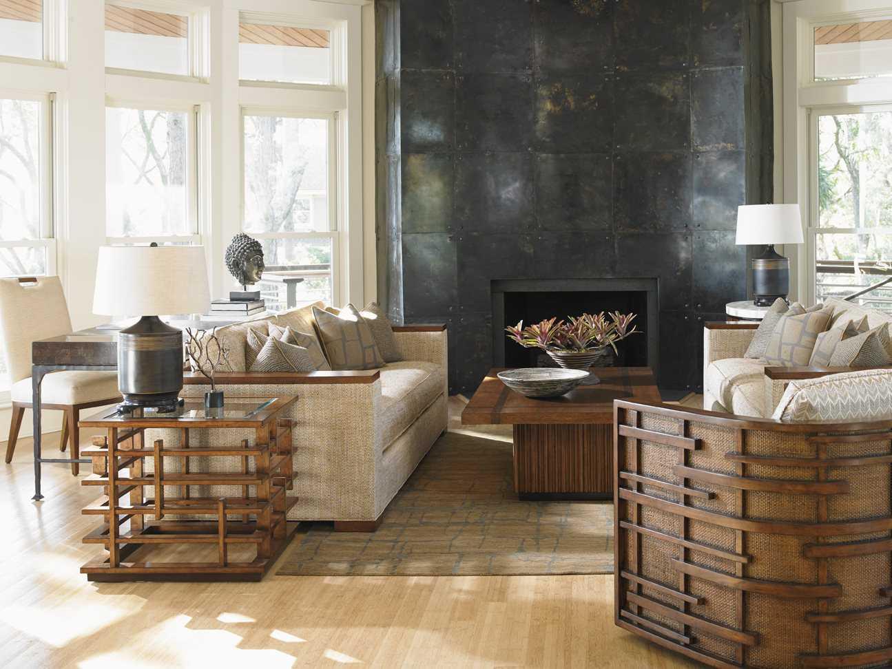 tommy bahama island fusion semerang masami living room set to556945set2. Black Bedroom Furniture Sets. Home Design Ideas