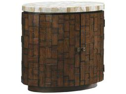 Tommy Bahama Island Fusion 20 x 31.25 Oval Banyan Sebana Accent Table