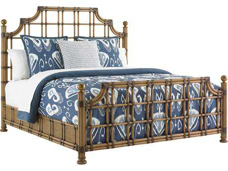 Tommy Bahama Twin Palms St. Kitts Rattan Bed 6/6 King
