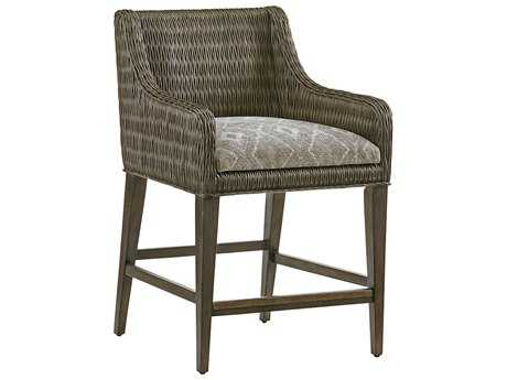 Tommy Bahama Cypress Point Turner Woven Counter Stool (Custom Upholstery)