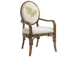 Tommy Bahama Bali Hai 25.5'' Gulfstream Quick Ship Oval Back Arm Chair (Twin Palms Pattern)