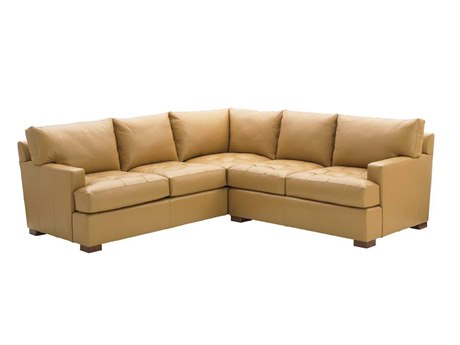 Tommy Bahama Island Fusion Loose Back Leather Masami Sectional Sofa
