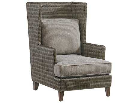 Tommy Bahama Cypress Point Randal Loose Back Rattan Wing Chair (Custom Upholstery)