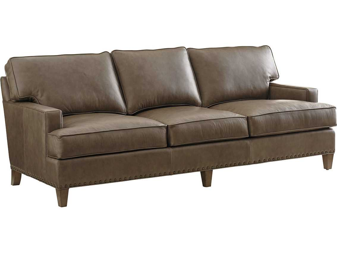 Tommy Bahama Cypress Point Hughes Leather Sofa Quick Ship