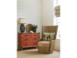 Tommy Bahama Twin Palms Chair and Cabinet Set
