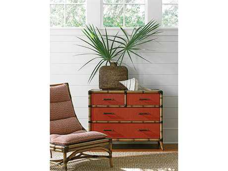 Tommy Bahama Twin Palms Chair and Chest Set