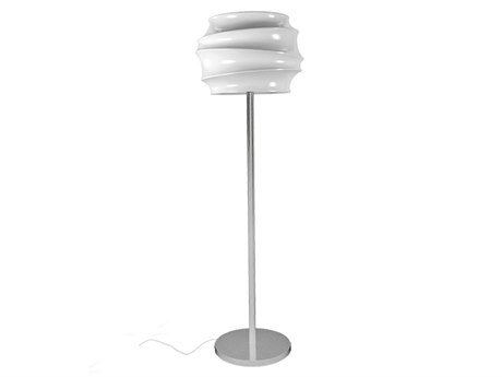 Tonik Swizzle Polyethylene Pedestal Floor Lamp PatioLiving