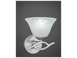 Toltec Lighting Revo Aged Silver with White Marble Glass Wall Sconce