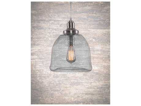 Toltec Lighting Plexus Brushed Nickel 10'' Wide Pendant Light
