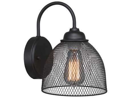 Toltec Lighting Plexus Matte Black Wall Sconce