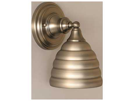 Toltec Lighting Brushed Nickel & Beehive Metal Glass Wall Sconce
