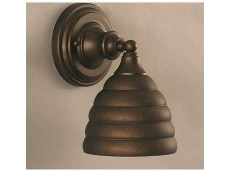Toltec Lighting Bronze & Beehive Metal Glass Wall Sconce