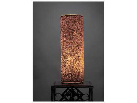 Toltec Lighting Table Lamp Gold Fusion Glass