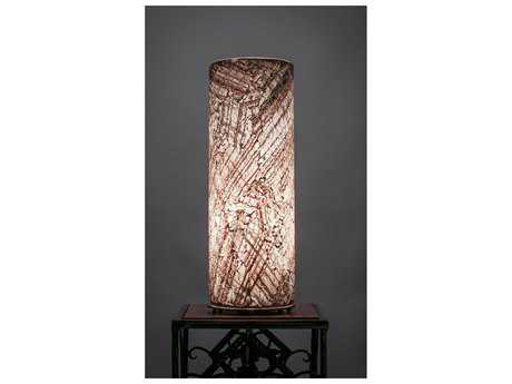 Toltec Lighting Table Lamp Natural Fusion Glass
