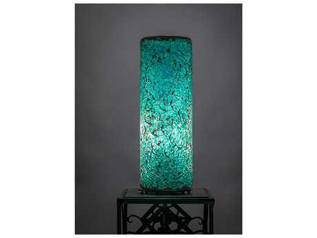 Toltec Lighting Table Lamp Turquoise Fusion Glass