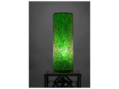 Toltec Lighting Table Lamp Green Fusion Glass