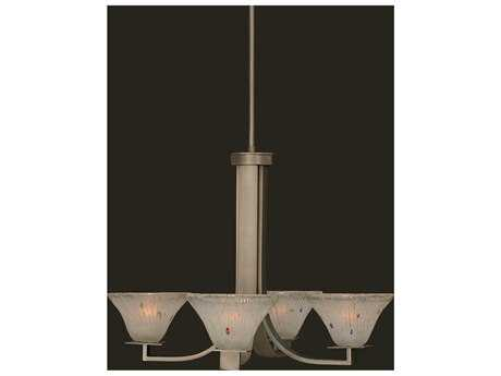 Toltec Lighting Apollo Graphite & Frosted Crystal Glass Four-Light 23.75'' Wide Mini-Chandelier