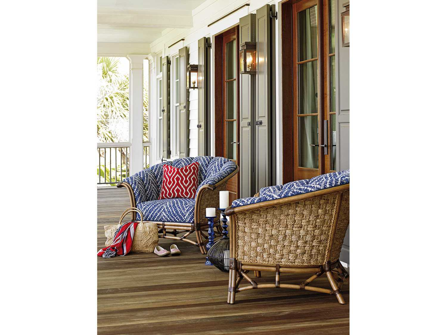 Tommy Bahama Twin Palms Club Chair Set Topelicanlivingset