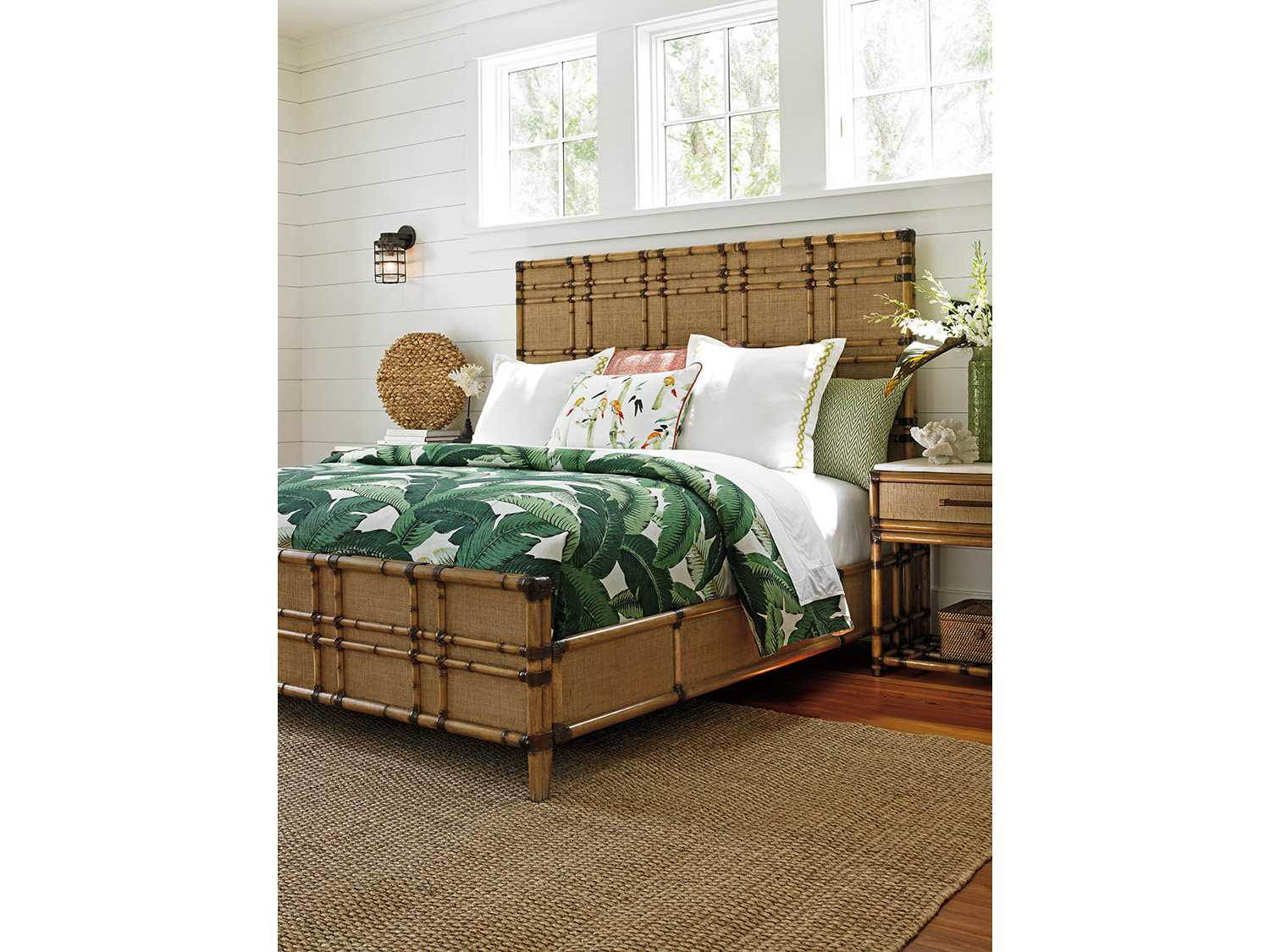 Tommy bahama twin palms panel bed bedroom set totwinpbedset Tommy bahama bedroom furniture sets