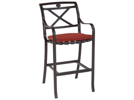 Tropitone Palladian X Back Cast Aluminum Bar Stool with Seat Pad