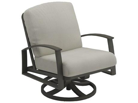 Tropitone Mainsail Cushion Relaxplus Aluminum Swivel Lounge Chair