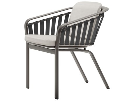 Tropitone Trelon Cushion Aluminum Dining Arm Chair