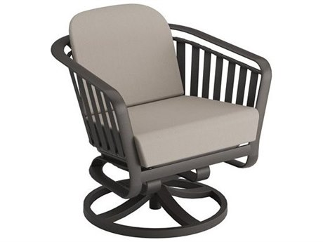 Tropitone Trelon Cushion Aluminum Swivel Rocker Lounge Chair