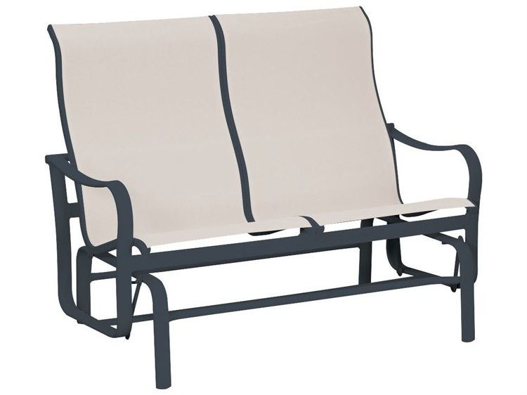 Tropitone Shoreline Sling Aluminum Double Glider Loveseat PatioLiving