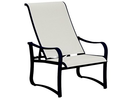 Tropitone Shoreline Sling Aluminum Recliner Lounge Chair