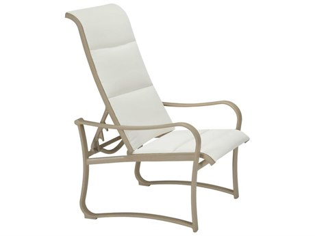Tropitone Shoreline Padded Sling Aluminum Recliner Lounge Chair