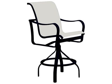 Tropitone Shoreline Sling Aluminum Swivel Bar Stool - 28
