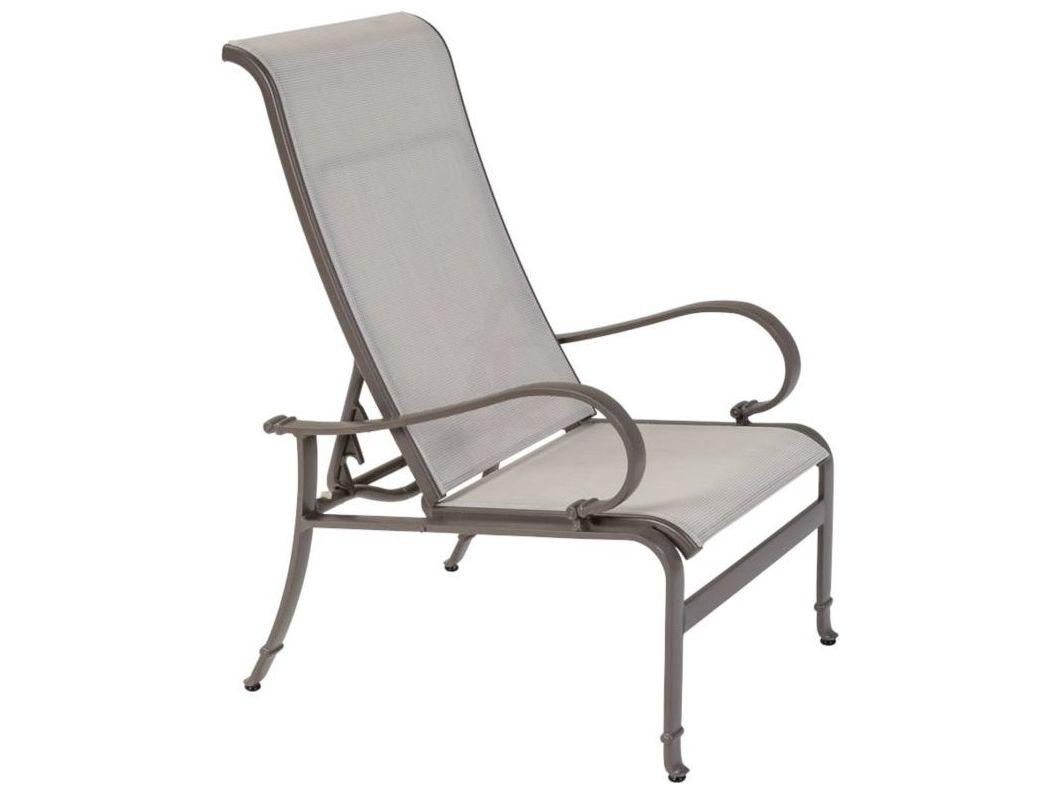 Tropitone torino sling aluminum recliner tp150320 for Chaise longue torino