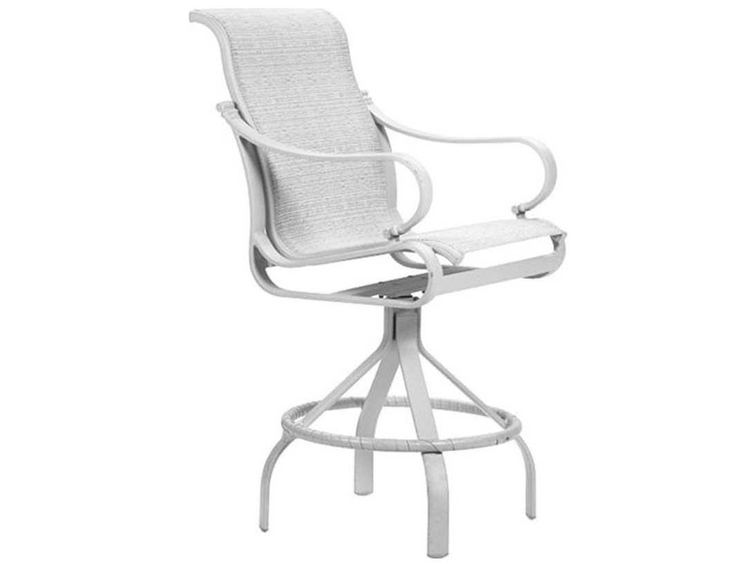 Tropitone torino sling aluminum swivel bar stool 30 for Chaise longue torino